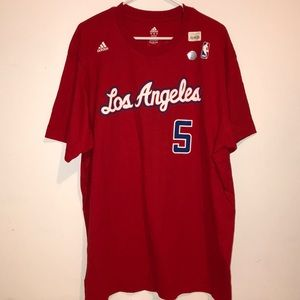 Los Angeles Clippers Butler #5 red men's t-shirt